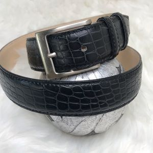 Boggi Milano Black Croc  Italian Leather Sz 36